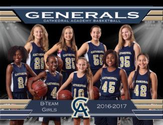 B Team Girls Basketball Team 2017