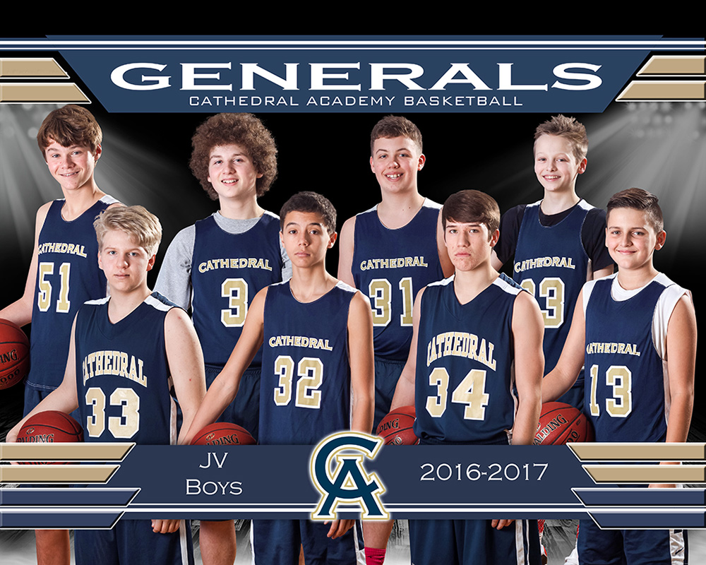 JV Boys Basketball Team 2017
