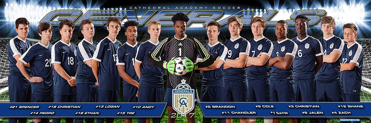 Varsity Soccer Team 2017 composite