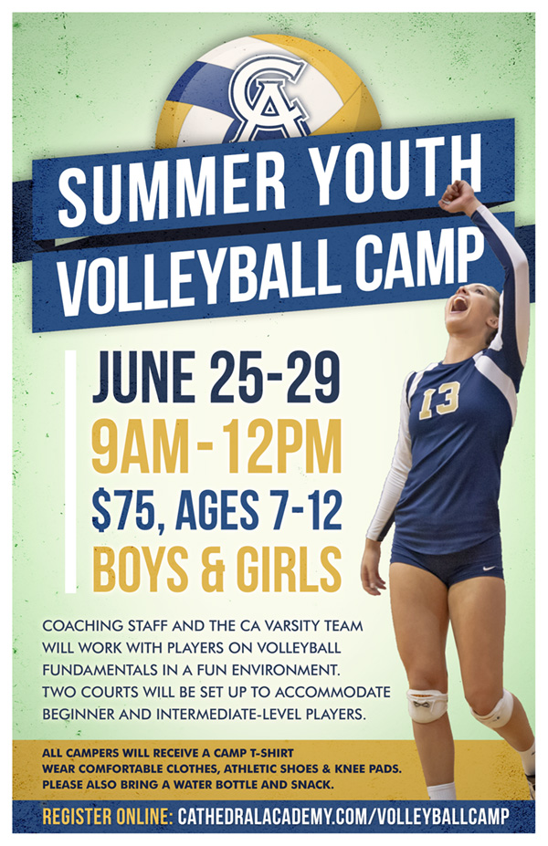 2018 Summer Youth Volleyball Camp Flyer